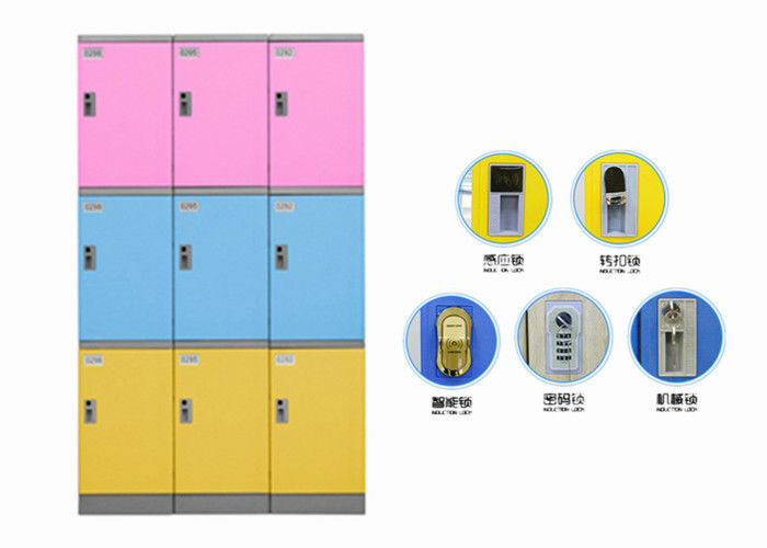 School Library Abs Plastic Locker Knock Down Structure Multifunction Design