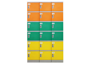 China Recyclable Commercial Gym Lockers , Plastic Indoor Changing Room Lockers distributor
